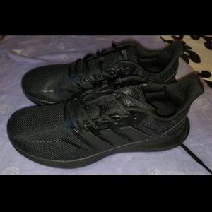 Black Adidas Runfalcon Tennis Shoes